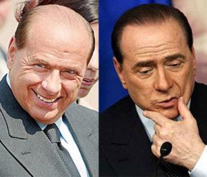 El antes y el después del implante capilar de Silvio Berlusconi